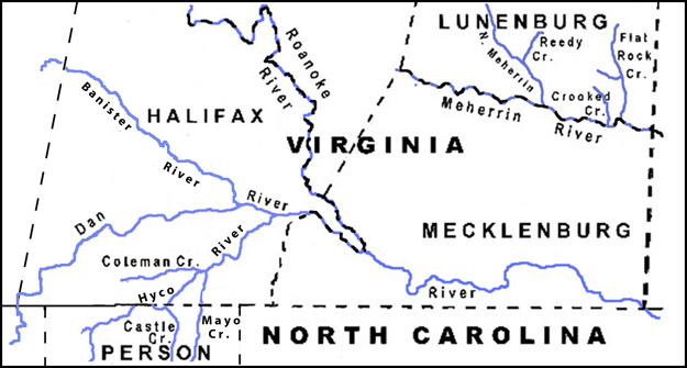 Halifax Co. VA and Person Co. NC